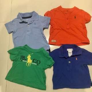 Set of 4 Baby Boy Top / Tee / Shirts