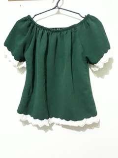 Green croptop