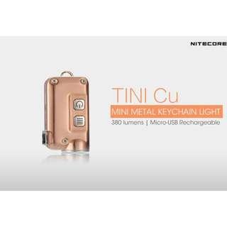 Nitecore TINI Copper XP-G2 S3 380 Lumens USB Rechargeable Keychain Light