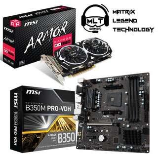(PROMOTION!!!!)RX570 Armor D5 8GB OC+Msi B350 Pro VDH MB