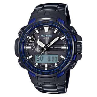 CASIO PRO TREK PRW-6100 series PRW-6100YT-1B MULTI BAND 6 電波受信機能 TOUGH SOLAR 光動能 PROTREK PRW6100YT