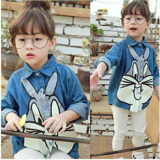 *FREE DELIVERY to WM only / Ready stock* Kids rabbit blouse each as shown in design/color. Free delivery is applied for this item.