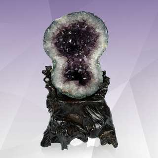8-Shaped Amethyst Geode
