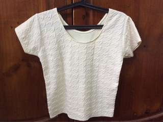 White simple top
