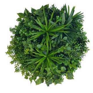 Artificial Green Wall Disk Art 60cm - Philodendron