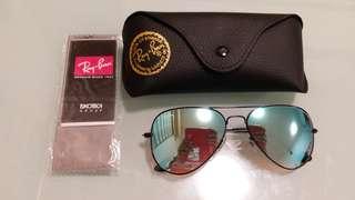 Ray Ban Sunglasses RB 3025 BLACK FRAME BLUE LENS