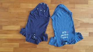 7 pieces baby boy onesies, shortsleeves. All 100% washed.