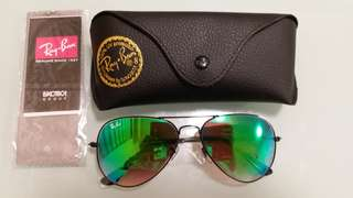 Ray Ban Sunglasses RB 3025 BLACK FRAME GREEN LENS