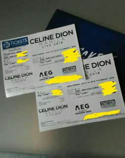 SALE/SWAP to Day 2 Celine Dion Tickets