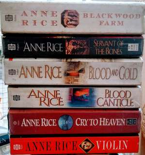 Anne Rice Books Collection(books sold individually)