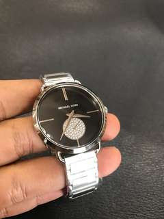 Brand NEW Michael Kors Portia Black Dial MK3638 Steel Watch with FREE DELIVERY