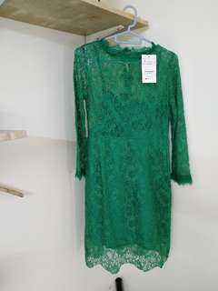 DreamLiuCollection Green Lace Dress