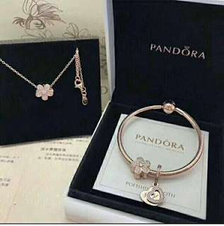 Authentic Premium Pandora Necklace/Bracelet Set