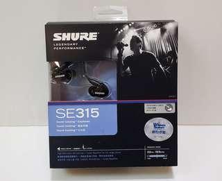 100%全新行貨Shure SE315可換線有線耳機