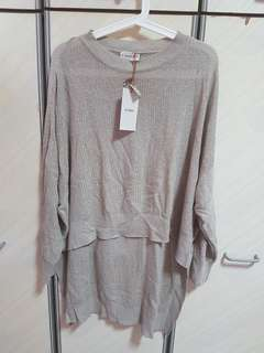 Pull&bear knitted high low pull over- size m