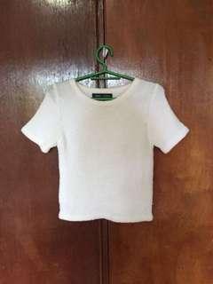 White Knitted CropTop