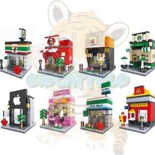 Lego Compatible Hsanhe Mini Street 8in1