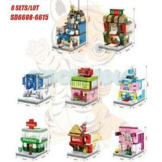 Lego Compatible Sembo Block Mini City SD6608-15 8in1