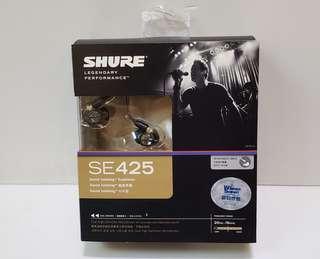 100%全新行貨Shure SE425可換線有線耳機