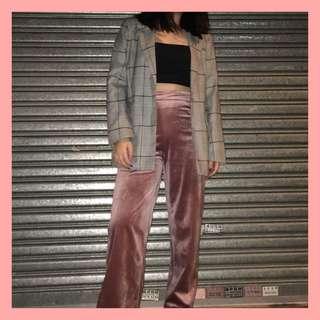 TEM Nanza Velour High-Waisted Pants
