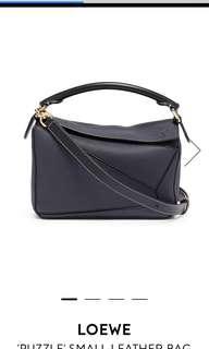 Loewe Puzzle Small Leather Handbag #Midnight Blue