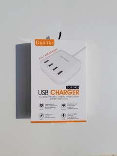 Doolike 4 in 1 USB Charger (US Plug)