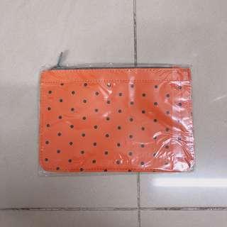 Orange make up bag 波點橙色化妝袋