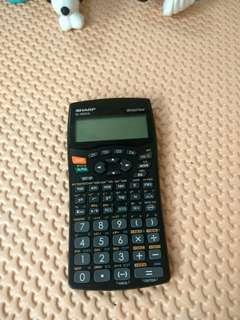 kalkulator sharp minus tutup aja