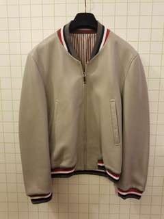 Thom Browne Men 3 全新 leather Bomber jacket