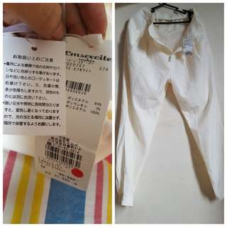 NEW! white pants (japan)