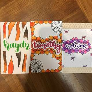 CLEARANCE Ready made cards for sale