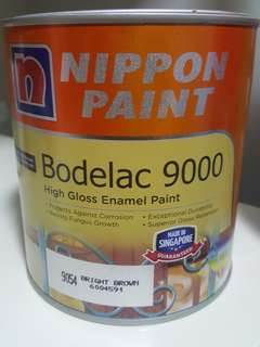nippon paint bodelac 9000 9054 bright brown