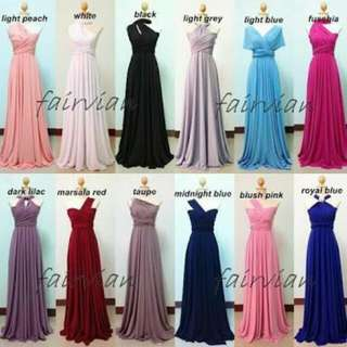 Infinity Dress 10 colors available