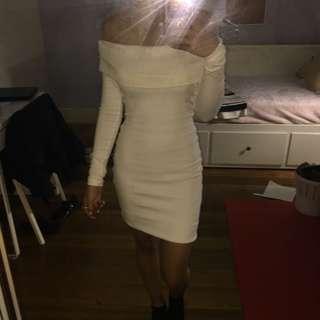 White Kookai Off-Shoulder dress