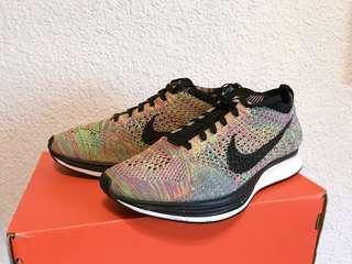 🚚 Nike Flyknit racer彩虹編織