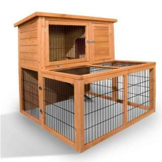 100cm Tall Wooden Pet Coop 2 Access Doors On First Floor