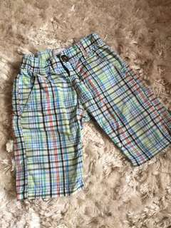 Green checked pant