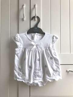 Jumpsuit putih jumper dress