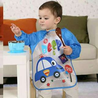2-6 years Long Sleeve Apron Kids Feeding Smock Bib Clothes