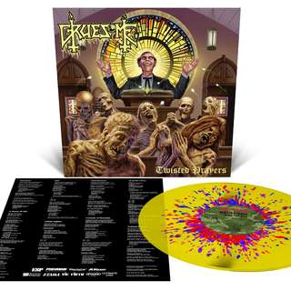 Gruesome - Twisted Prayers Limited Edition Stained Glass Splatter Vinyl LP (500pcs)