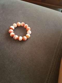 Beautiful orange white agate bracelet