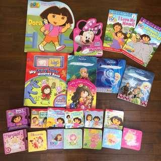 Preloved Bundle of 21 Toddler Girls storybooks board books