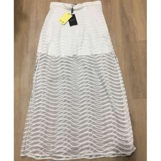 Bardot split skirt