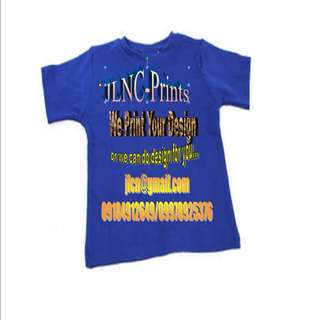 Customize T-Shirt, Calling Card, Invitation and other printing services