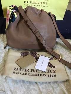 BURBERRY Burberry Bingley Grainy Leather & House Check Crossbody