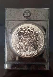 2015 Rwanda Buffalo 1 oz Silver coin.
