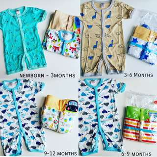 📮Free Mail - 3pcs Baby short sleeve button romper front button romper