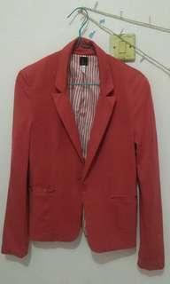 Bershka blazer red size L