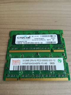 512mb sodimm DDR2 + PC 3 -12800U 2Gb
