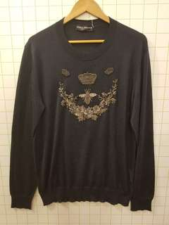 Dolce gabbana DG cashmere embroidery sweater mens